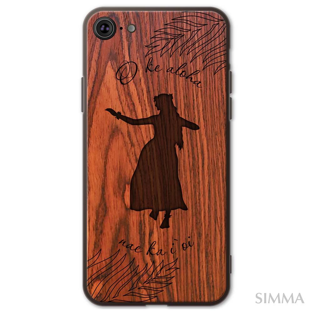 【HULA GIRL】by SIMMA Hawaii Original Wood Cover Collection ウッドケース