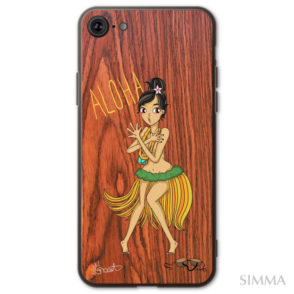 【Where is my coconut??】by Moana iPhoneウッドケース